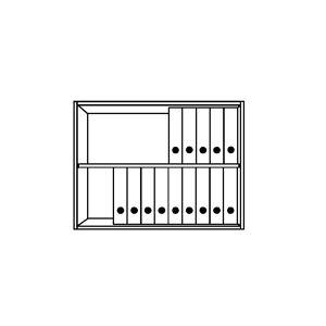 TINO - Aufsatzschrank 2 Ordnerhöhen, 1 Fachboden lichtgrau