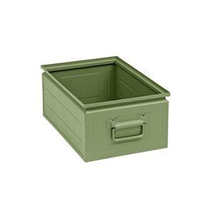 Stapelkasten aus Stahlblech Inhalt ca. 25 l resedagrün RAL 6011