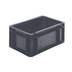 Euro-Format-Stapelbehälter, Wände und Boden geschlossen LxBxH 300 x 200 x 145 mm grau, VE 5 Stk