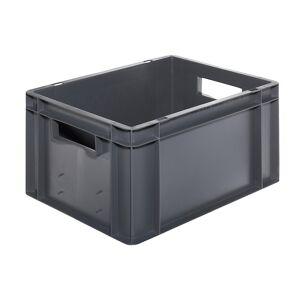 Euro-Format-Stapelbehälter, Wände und Boden geschlossen LxBxH 400 x 300 x 210 mm grau, VE 5 Stk