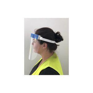 Gesichtsschutz (VE 10 oder 100 Stk) Plexiglasvisier mit Stirnpolster transparent/blau, VE 10 Stk