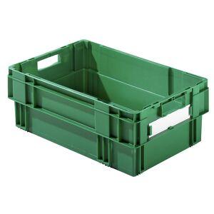Drehstapelkasten Inhalt 37 Liter, Wände und Boden geschlossen, VE 4 Stk grün