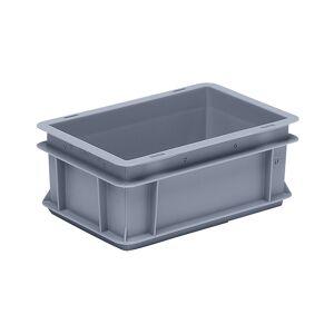 Euro-Stapelbehälter aus Polypropylen (PP) Traglast 20 kg, silbergrau Inhalt 5 l, Außenhöhe 120 mm, VE 10 Stk