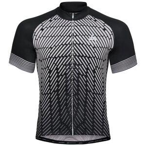 Odlo Herren FUJIN PRINT Kurzarm-Radtrikot black - odlo silver grey XL