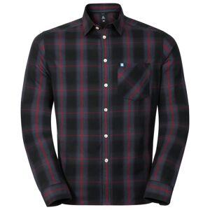 Odlo Shirt l/s LOGGER ombre blue - jester red check XL