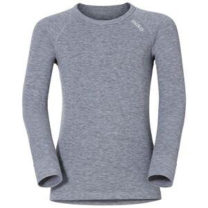 Odlo ACTIVE WARM KIDS Funktionsunterwäsche Langarm-Shirt grey melange 116