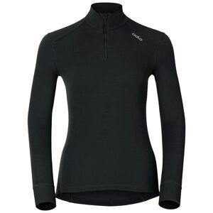 Odlo Damen ACTIVE WARM Funktionsunterwäsche Langarm-Shirt mit 1/2 Reißverschluss black M