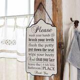 LOBERON Dekoboard Bathroom Rules