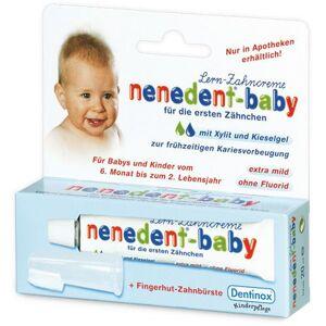 Dentinox Lenk & Schuppan KG nenedent®-baby Zahnpflege-Lernset mit Fingerhut-Zahnbürste
