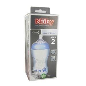 Nuby Nûby Natural® Touch Babyflasche 330 ml mit Trinksauger ab 3 Monaten blau