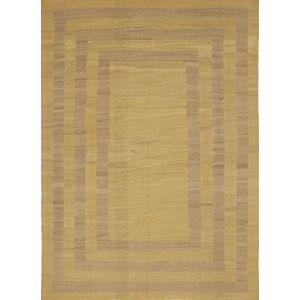Nain Trading Orientalischer Kelim Fars Design Teppich 302x219 Dunkelbraun (Persien/Iran, Wolle, Handgewebt)