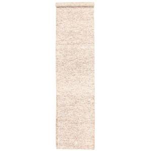 Nain Trading Handgeknüpfter Teppich Design Loom Bright 397x89 Beige (Wolle mit Bambus-Seide, Indien)