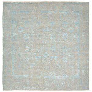 Nain Trading Echter Teppich Sadraa 303x299 Grau/Beige (Wolle mit Bambus-Seide, Indien, Handgeknüpft)