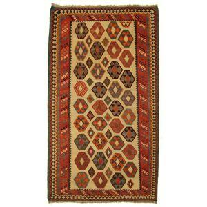 Nain Trading Orientalischer Kelim Fars Teppich 297x163 Beige/Rost (Persien/Iran, Wolle, Handgeknüpft)