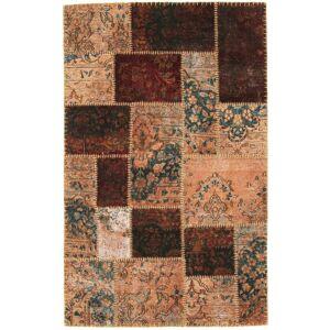 Nain Trading Handgeknüpfter Teppich Patchwork 187x117 Braun/Rosa (Wolle, Türkei)