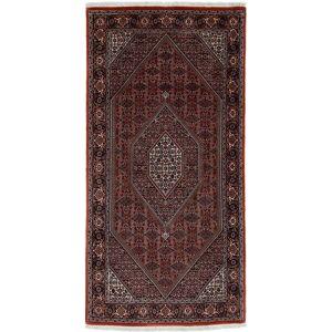 Nain Trading Handgeknüpfter Teppich Bidjar 202x99 Läufer Dunkelgrau/Dunkelbraun (Wolle, Persien/Iran)