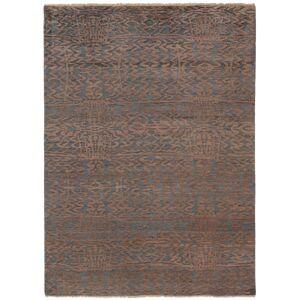Nain Trading Orientalischer Sindhi Teppich 201x146 Dunkelgrau/Dunkelbraun (Indien, Wolle mit Bambus-Seide, Handgeknüpft)