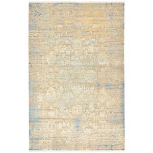 Nain Trading Echter Teppich Sadraa 303x198 Beige (Wolle mit Bambus-Seide, Indien, Handgeknüpft)