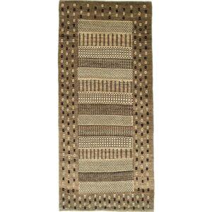 Nain Trading Perserteppich Perser Gabbeh Loribaft 180x88 Läufer Beige/Dunkelbraun (Handgeknüpft, Persien/Iran, Wolle)