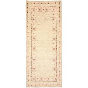 Nain Trading Orientalischer Perser Gabbeh Loribaft Teppich 200x82 Beige (Persien/Iran, Wolle, Handgeknüpft)