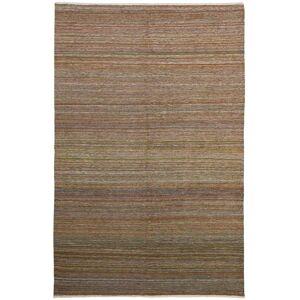 Nain Trading Persischer Kelim Fars Teppich 293x192 Beige/Dunkelbraun (Wolle, Persien/Iran, Handgeknüpft)