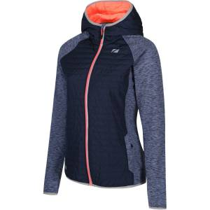 Zone3 Hybrid Puffa Jacke Frauen - Small Petrol Blue/Electric   Jacken