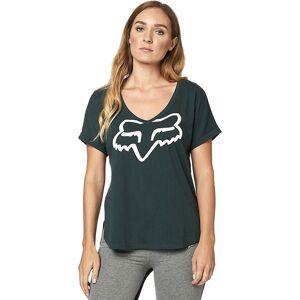Fox Racing Damen Responded Roll Sleeve T-Shirt (V-Ausschnitt) 2019 Green
