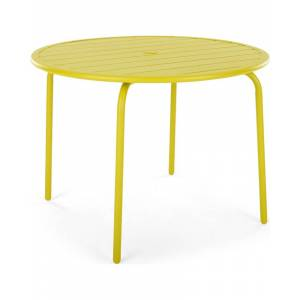MADE.COM Made Essentials Tice Gartentisch, Chartreuse in Gelb