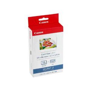 Canon kit 18 impressions (papier + encre) format carte de crédit au...