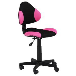 IDIMEX Kinderdrehstuhl ALONDRA schwarz/pink