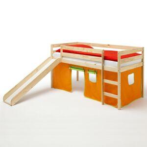 IDIMEX Spielbett BENNY, mit Vorhang in orange