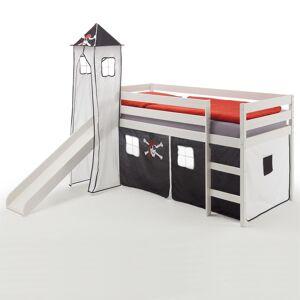 IDIMEX Rutschbett BENNY mit Turm+Vorhang Pirat
