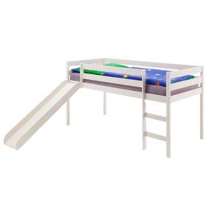 IDIMEX Spielbett BENNY mit Rutsche in weiß