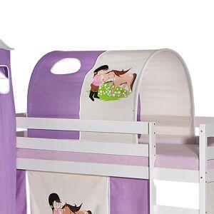 Idimex Tunnel PONY für Spielbett in lila/beige