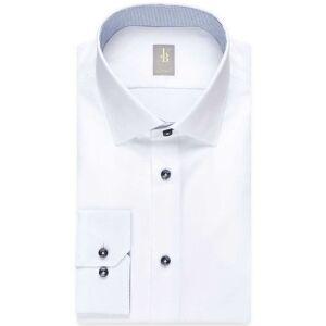 Jacques Britt Custom Fit Hemd weiss, Einfarbig Herren 40 - M weiss