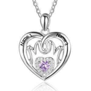 Herzschmuck Mom-Herz Halskette mit Gravur