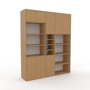 MYCS Bücherregal Eiche - Modernes Regal für Bücher: Türen in Eiche - 190 x 234 x 47 cm, Individuell konfigurierbar