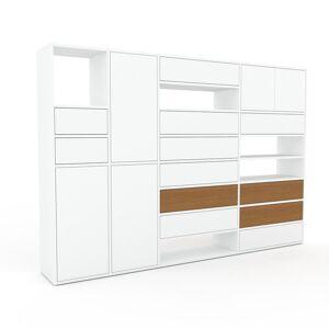 MYCS Highboard Weiß - Highboard: Schubladen in Weiß & Türen in Weiß - Hochwertige Materialien - 229 x 157 x 35 cm, Selbst designen