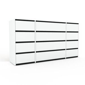 MYCS Kommode Weiß - Design-Lowboard: Schubladen in Weiß - Hochwertige Materialien - 154 x 80 x 35 cm, Selbst zusammenstellen
