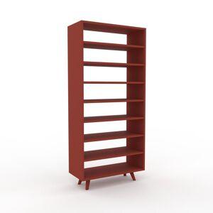 MYCS Bücherregal Terrakotta - Modernes Regal für Bücher: Hochwertige Qualität, einzigartiges Design - 77 x 168 x 35 cm, Individuell konfigurierbar