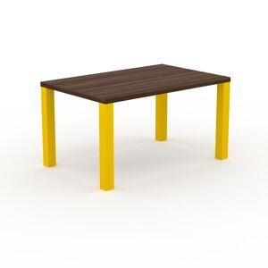 MYCS Holztisch Massivholz Nussbaum, zertifiziertes Holz - Eleganter Esstisch, Massivholztisch: Einzigartiges Design - 140 x 76 x 90 cm, konfigurierbar