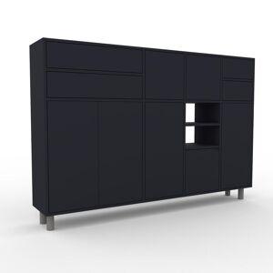 MYCS Sideboard Anthrazit - Sideboard: Schubladen in Anthrazit & Türen in Anthrazit - Hochwertige Materialien - 193 x 130 x 35 cm, konfigurierbar