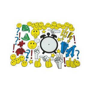 Betzold Magnetische Emoticons und Diskussionssymbole für die Tafel, 91 Teile