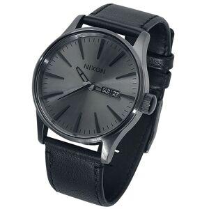 Nixon Sentry Leather - Armbanduhren-schwarz