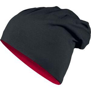 Urban Classics Reversible Jersey Mütze-schwarz rot