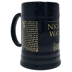 Game Of Thrones Night's Watch Bierkrug-schwarz - Offizieller & Lizenzierter Fanartikel