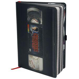 Stranger Things VHS - Premium Notizbuch-schwarz weiß - Offizieller & Lizenzierter Fanartikel