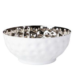 Wittkemper Schale hoch White Shiny L Aluminium vernickelt silber weiß