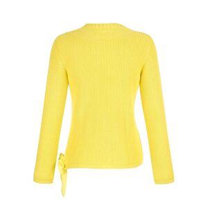 Alba Moda Pullover, Damen, gelb, mit trendiger Schleifenverarbeitung