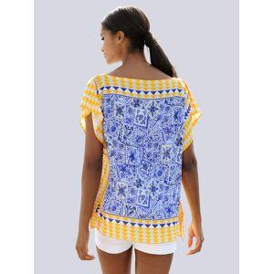 Alba Moda Bluse, Damen, blau, im Tücherstyle